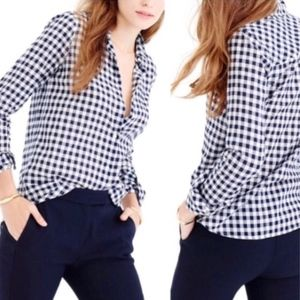 J. Crew Flannel Check Boy friend Shirt